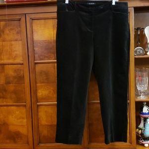 TALBOTS CURVY VELVET BLACK PANTS SIZE 14P